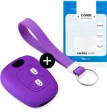 TBU car TBU car Sleutel cover compatibel met Toyota - Silicone sleutelhoesje - beschermhoesje autosleutel - Paars