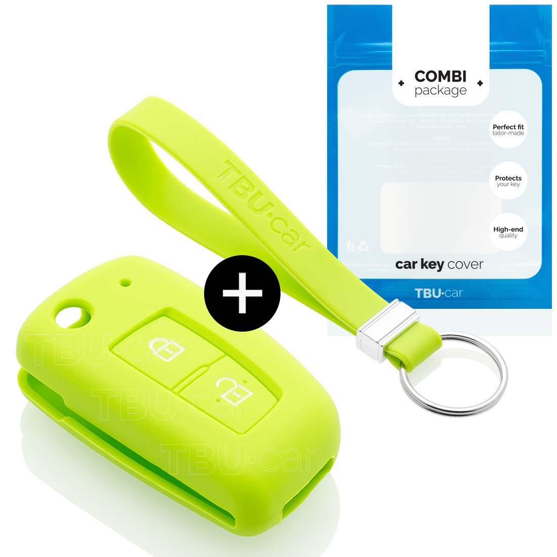 Nissan Car key cover - Silicone Protective Remote Key Shell - FOB Case Cover - Lime