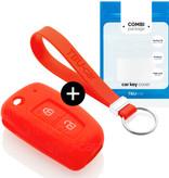 TBU car Autoschlüssel Hülle für Nissan 2 Tasten - Schutzhülle aus Silikon - Auto Schlüsselhülle Cover in Rot
