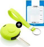 TBU car TBU car Autoschlüssel Hülle kompatibel mit Smart 1 Taste - Schutzhülle aus Silikon - Auto Schlüsselhülle Cover in Lindgrün