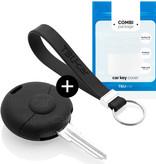 Smart Autoschlüssel Hülle - Silikon Schutzhülle - Schlüsselhülle Cover - Schwarz