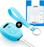 TBU car TBU car Sleutel cover compatibel met Saab - Silicone sleutelhoesje - beschermhoesje autosleutel - Lichtblauw