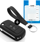 Land Rover Car key cover - Silicone Protective Remote Key Shell - FOB Case Cover - Black