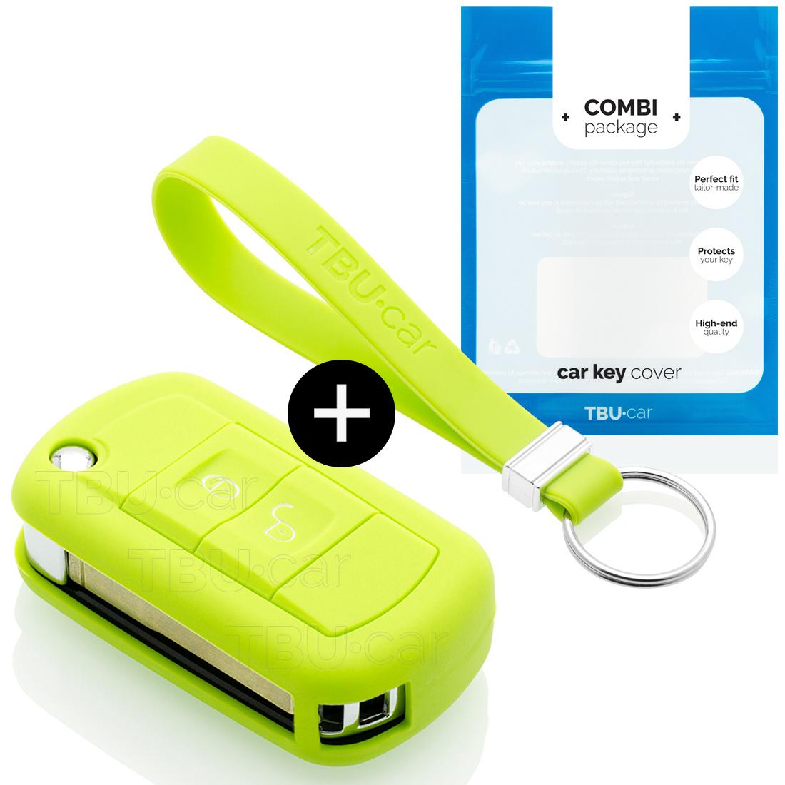 TBU car TBU car Sleutel cover compatibel met Land Rover - Silicone sleutelhoesje - beschermhoesje autosleutel - Lime groen