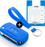 Land Rover Car key cover - Silicone Protective Remote Key Shell - FOB Case Cover - Blue