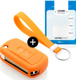 Land Rover Autoschlüssel Hülle - Silikon Schutzhülle - Schlüsselhülle Cover - Orange