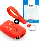 Range Rover Car key cover - Silicone Protective Remote Key Shell - FOB Case Cover - Red