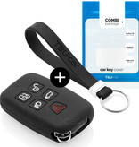 TBU car TBU car Sleutel cover compatibel met Range Rover - Silicone sleutelhoesje - beschermhoesje autosleutel - Zwart
