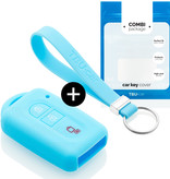 Nissan Car key cover - Silicone Protective Remote Key Shell - FOB Case Cover - Light Blue