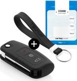 Ford Autoschlüssel Hülle - Silikon Schutzhülle - Schlüsselhülle Cover - Schwarz