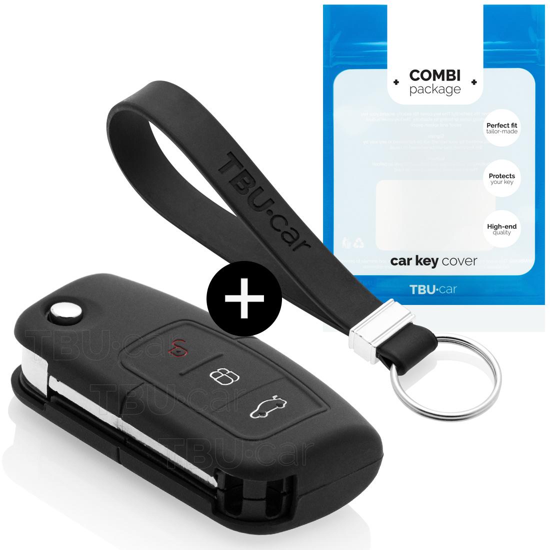TBU car TBU car Sleutel cover compatibel met Ford - Silicone sleutelhoesje - beschermhoesje autosleutel - Zwart