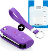 Ford Car key cover - Silicone Protective Remote Key Shell - FOB Case Cover - Purple