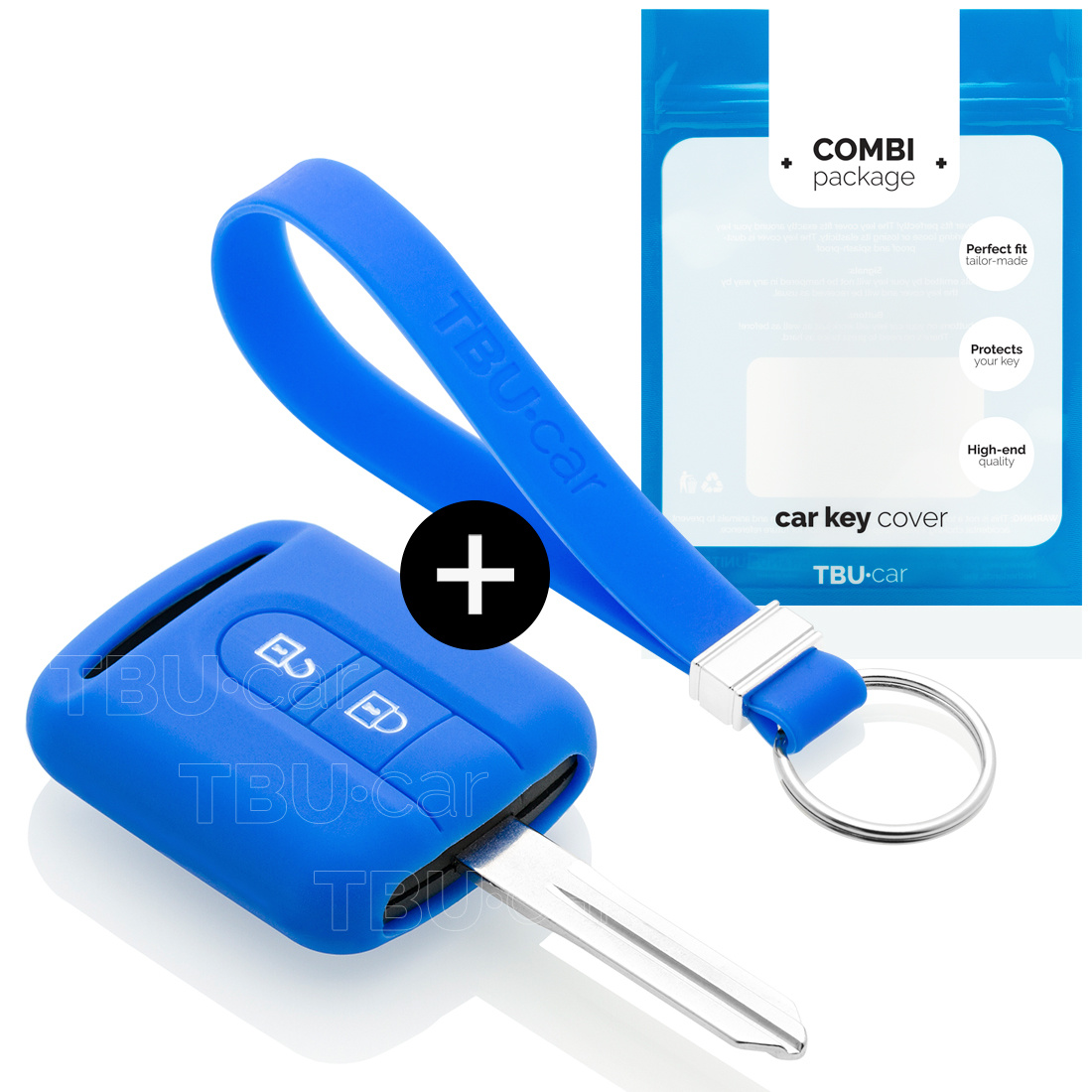 TBU·CAR Nissan Autoschlüssel Hülle - Silikon Schutzhülle - Schlüsselhülle Cover - Blau
