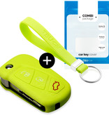 TBU·CAR Ford Car key cover - Silicone Protective Remote Key Shell - FOB Case Cover - Lime