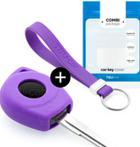 Nissan Autoschlüssel Hülle - Silikon Schutzhülle - Schlüsselhülle Cover - Violett