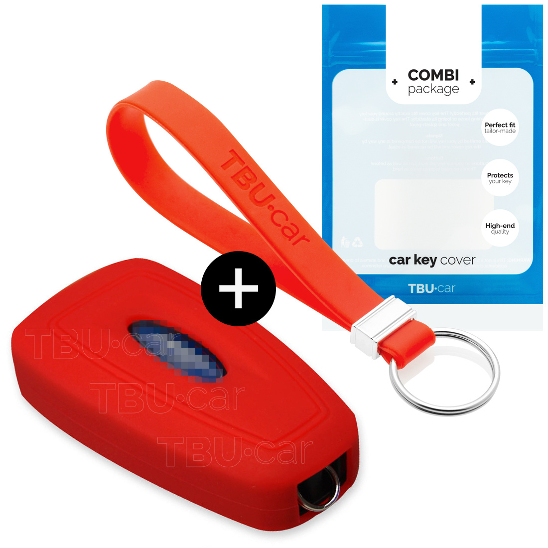 Ford Car key cover - Silicone Protective Remote Key Shell - FOB Case Cover - Red