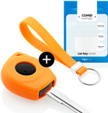 Nissan Autoschlüssel Hülle - Silikon Schutzhülle - Schlüsselhülle Cover - Orange