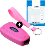 Ford Car key cover - Silicone Protective Remote Key Shell - FOB Case Cover - Pink