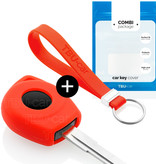 Nissan Car key cover - Silicone Protective Remote Key Shell - FOB Case Cover - Red