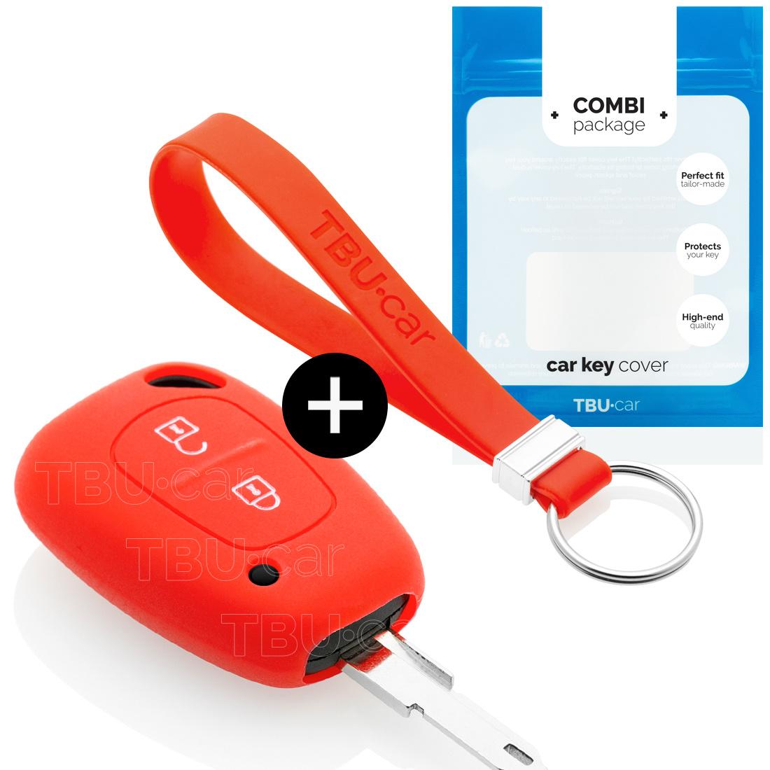 TBU·CAR Nissan Autoschlüssel Hülle - Silikon Schutzhülle - Schlüsselhülle Cover - Rot
