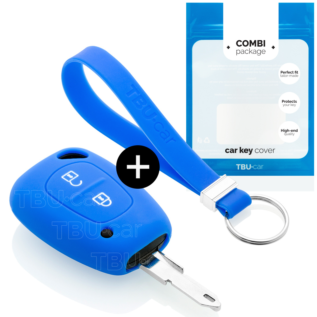 Nissan Autoschlüssel Hülle - Silikon Schutzhülle - Schlüsselhülle Cover - Blau
