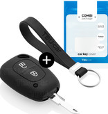 Nissan Autoschlüssel Hülle - Silikon Schutzhülle - Schlüsselhülle Cover - Schwarz