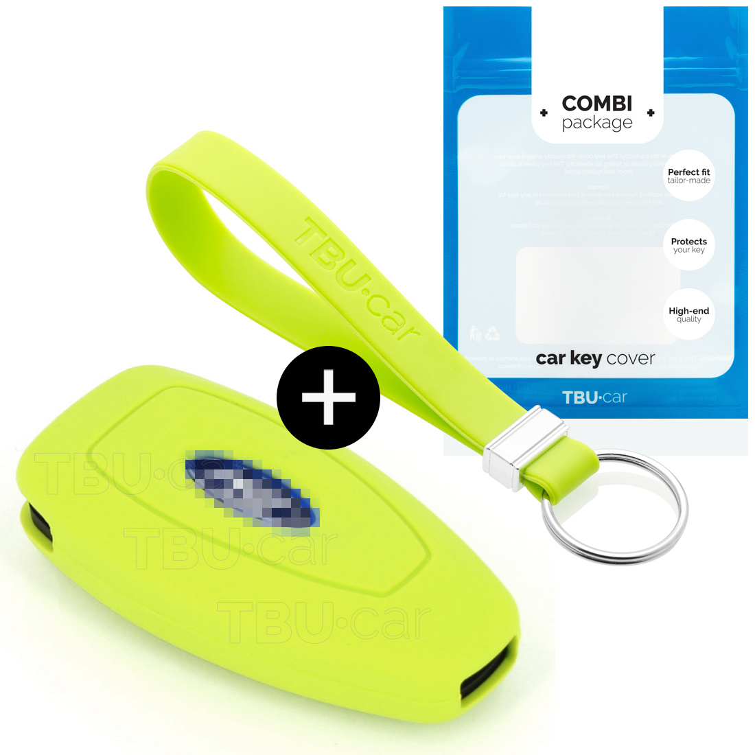Ford Car key cover - Silicone Protective Remote Key Shell - FOB Case Cover - Lime