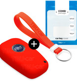 Lancia Car key cover - Silicone Protective Remote Key Shell - FOB Case Cover - Red