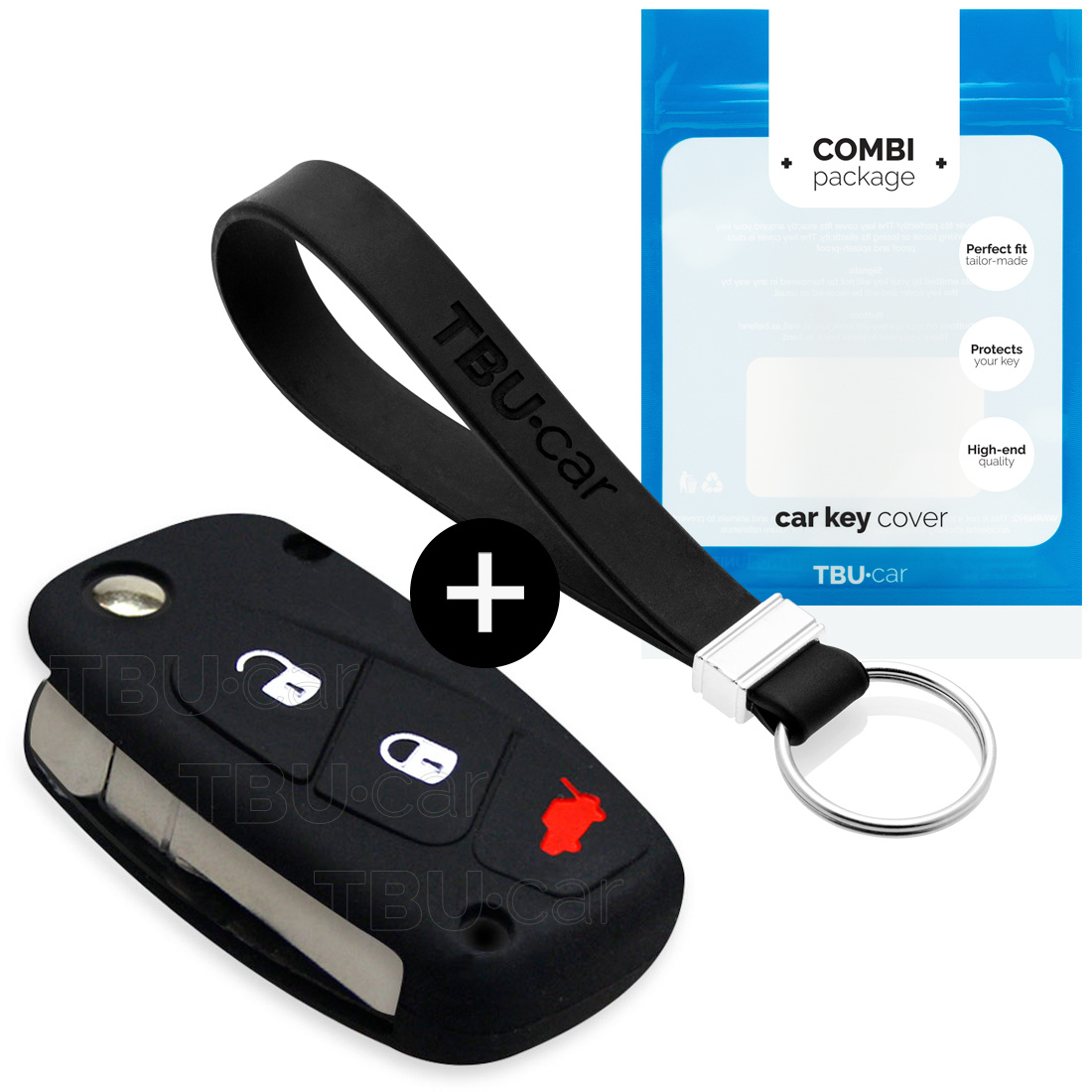 Lancia Car key cover - Silicone Protective Remote Key Shell - FOB Case Cover - Black