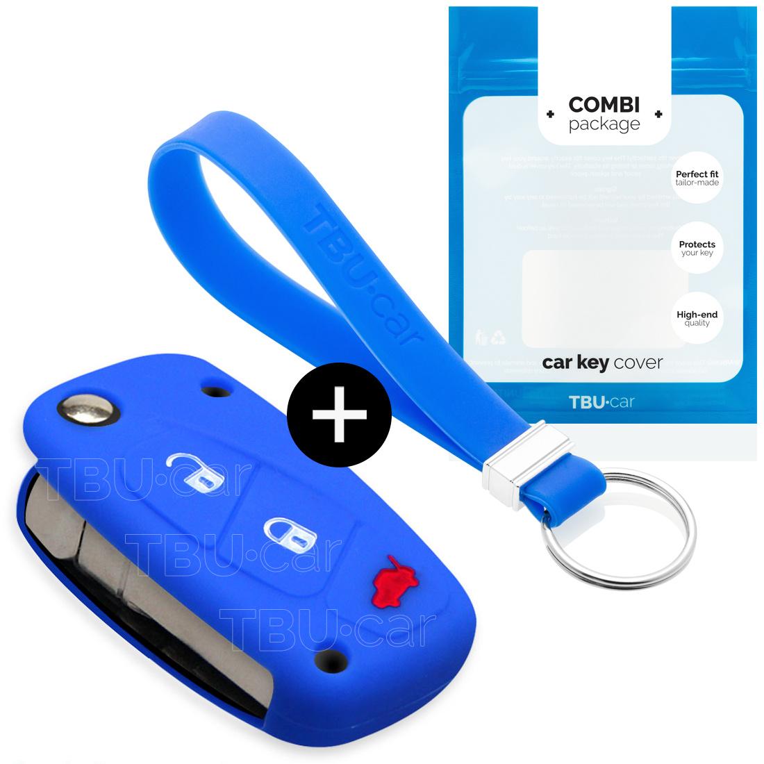 Lancia Autoschlüssel Hülle - Silikon Schutzhülle - Schlüsselhülle Cover - Blau