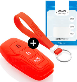 Ford Capa Silicone Chave - Vermelho