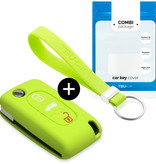 Lancia Car key cover - Silicone Protective Remote Key Shell - FOB Case Cover - Lime