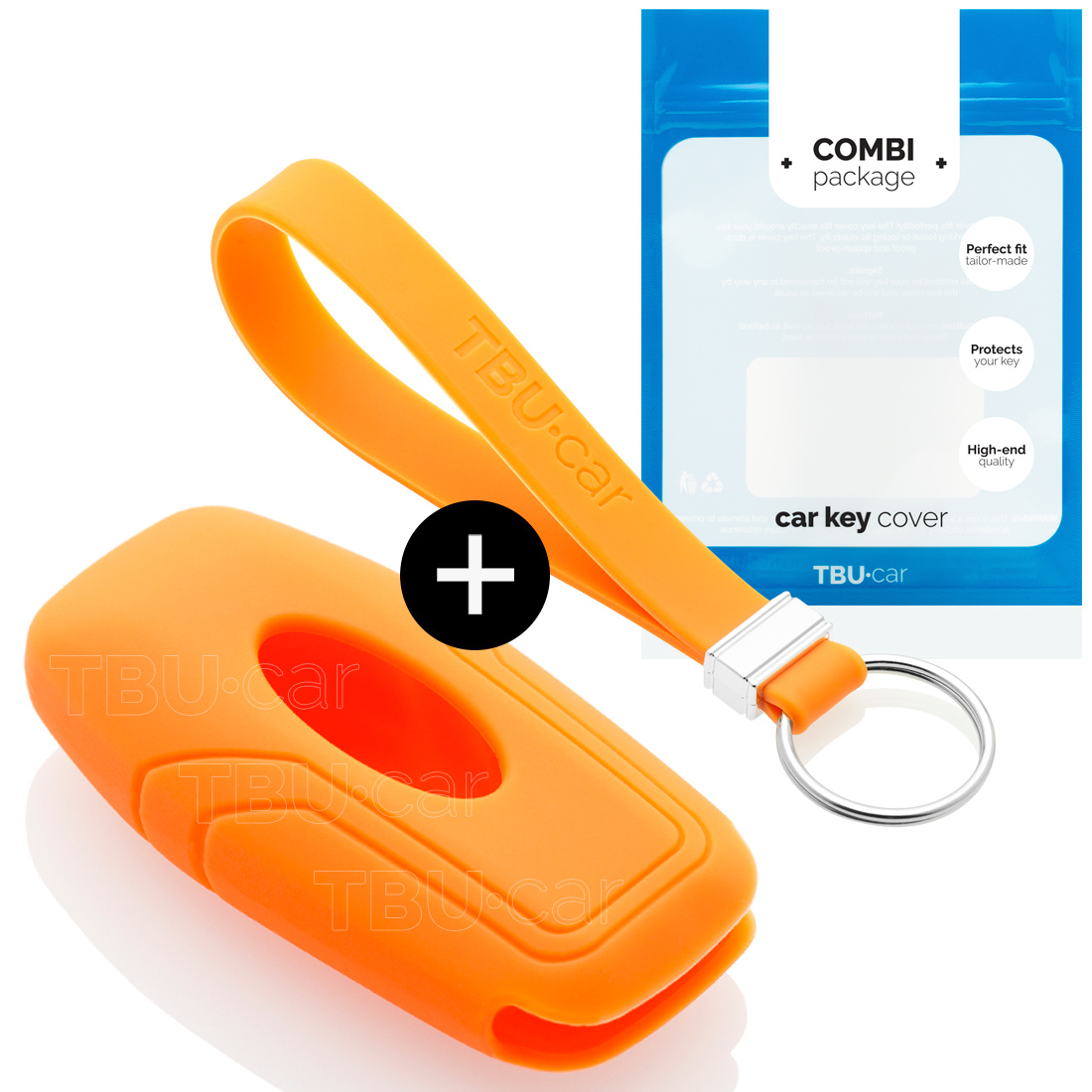 Ford Autoschlüssel Hülle - Silikon Schutzhülle - Schlüsselhülle Cover - Orange