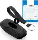 TBU car TBU car Autoschlüssel Hülle kompatibel mit Ford 3 Tasten (Keyless Entry) - Schutzhülle aus Silikon - Auto Schlüsselhülle Cover in Schwarz