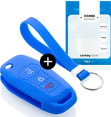 Ford Autoschlüssel Hülle - Silikon Schutzhülle - Schlüsselhülle Cover - Blau
