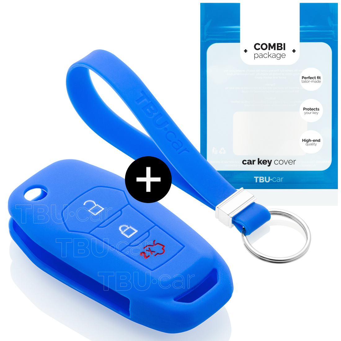 Ford Car key cover - Azul