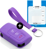 Ford Autoschlüssel Hülle - Silikon Schutzhülle - Schlüsselhülle Cover - Violett