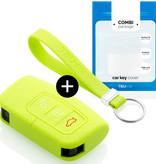 TBU car TBU car Autoschlüssel Hülle kompatibel mit Ford 3 Tasten (Keyless Entry) - Schutzhülle aus Silikon - Auto Schlüsselhülle Cover in Lindgrün