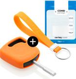 TBU car TBU car Autoschlüssel Hülle kompatibel mit Ford Standardschlüssel - Schutzhülle aus Silikon - Auto Schlüsselhülle Cover in Orange