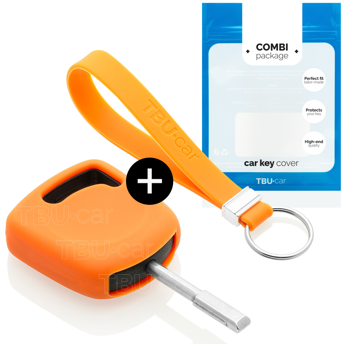 Ford Car key cover - Silicone Protective Remote Key Shell - FOB Case Cover - Orange