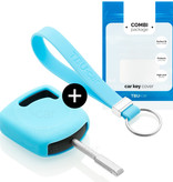 Ford Car key cover - Silicone Protective Remote Key Shell - FOB Case Cover - Light Blue