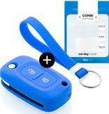TBU car TBU car Sleutel cover compatibel met Mercedes - Silicone sleutelhoesje - beschermhoesje autosleutel - Blauw