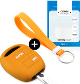 TBU car TBU car Sleutel cover compatibel met Lexus - Silicone sleutelhoesje - beschermhoesje autosleutel - Oranje