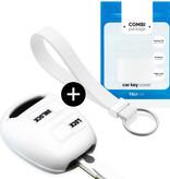TBU car TBU car Sleutel cover compatibel met Lexus - Silicone sleutelhoesje - beschermhoesje autosleutel - Wit