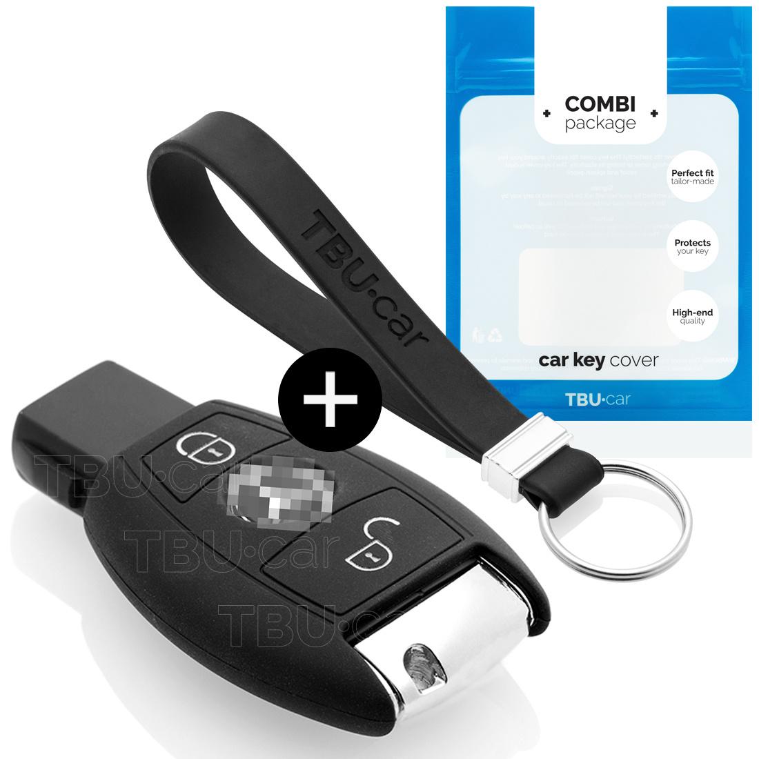 TBU car TBU car Sleutel cover compatibel met Mercedes - Silicone sleutelhoesje - beschermhoesje autosleutel - Zwart