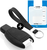 Mercedes Car key cover - Silicone Protective Remote Key Shell - FOB Case Cover - Black