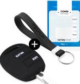 TBU car TBU car Sleutel cover compatibel met Lexus - Silicone sleutelhoesje - beschermhoesje autosleutel - Zwart