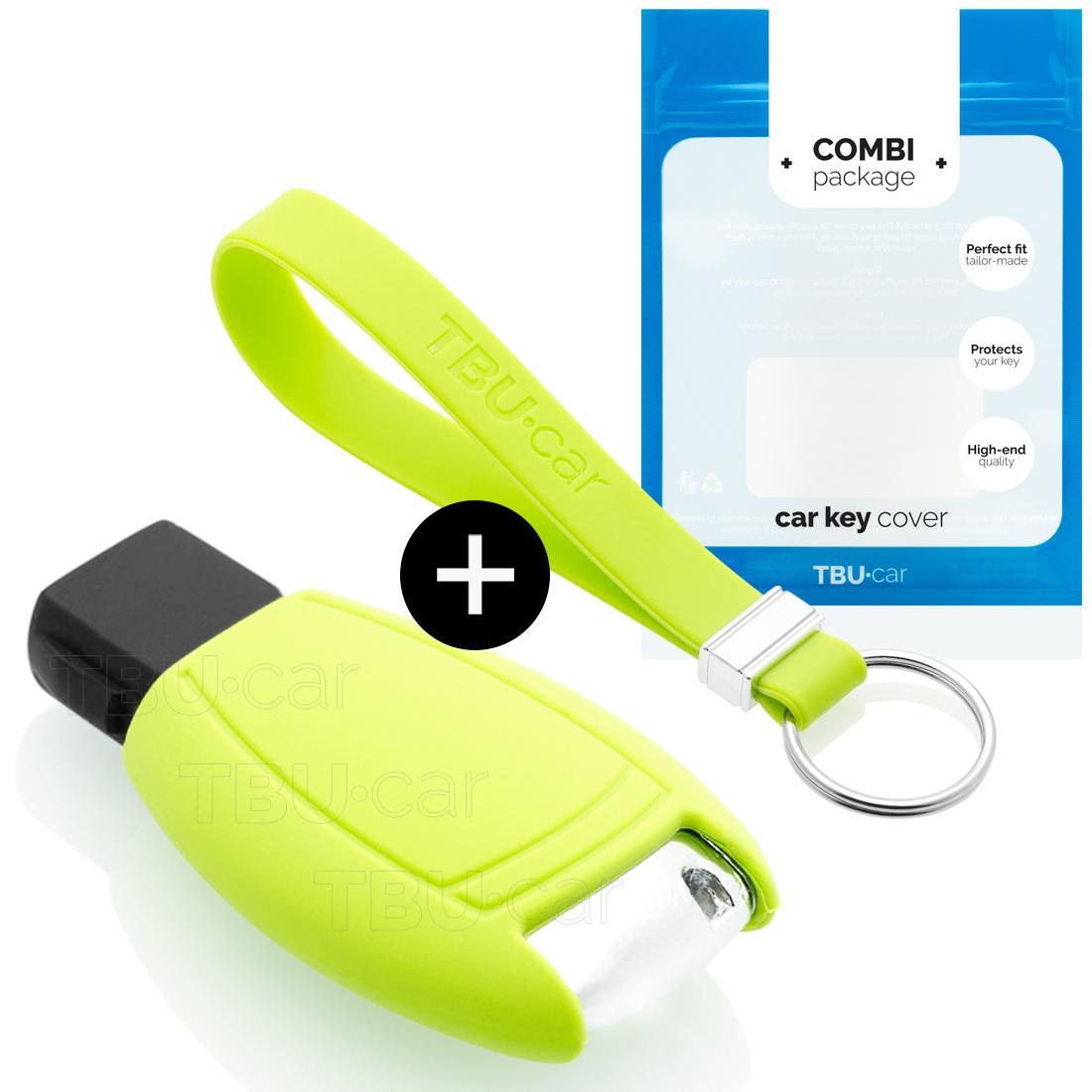 TBU car TBU car Sleutel cover compatibel met Mercedes - Silicone sleutelhoesje - beschermhoesje autosleutel - Lime groen