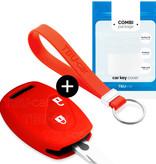 Honda Autoschlüssel Hülle - Silikon Schutzhülle - Schlüsselhülle Cover - Rot
