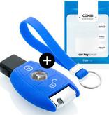 Mercedes Autoschlüssel Hülle - Silikon Schutzhülle - Schlüsselhülle Cover - Blau